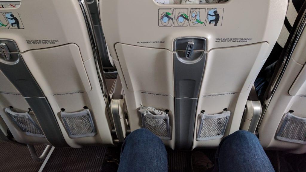 Swiss Airbus A220 Notausgang