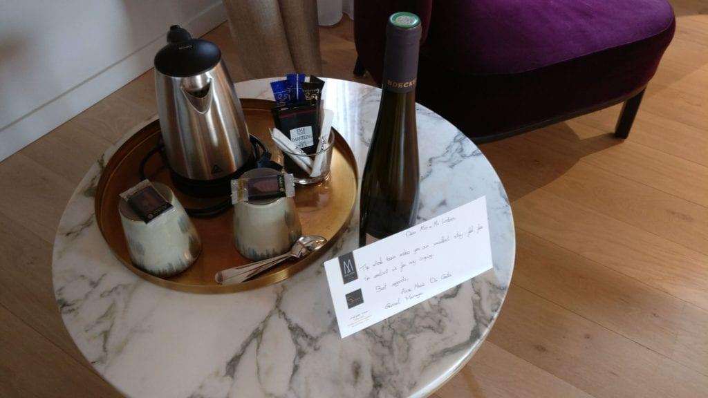 5 Terres Hotel Barr Willkommensgeschenk