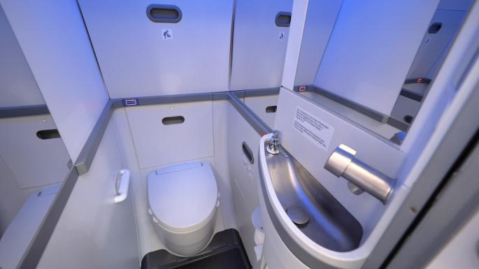 American Airlines Boeing 737 Max Toilette