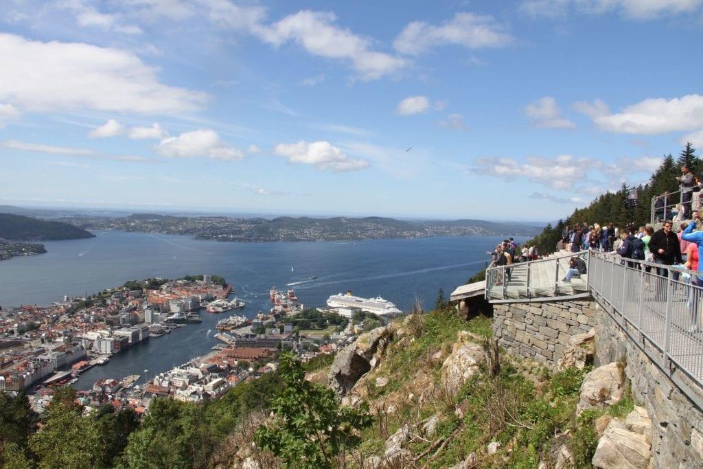 Bergen Floyen Aussichtsplattform