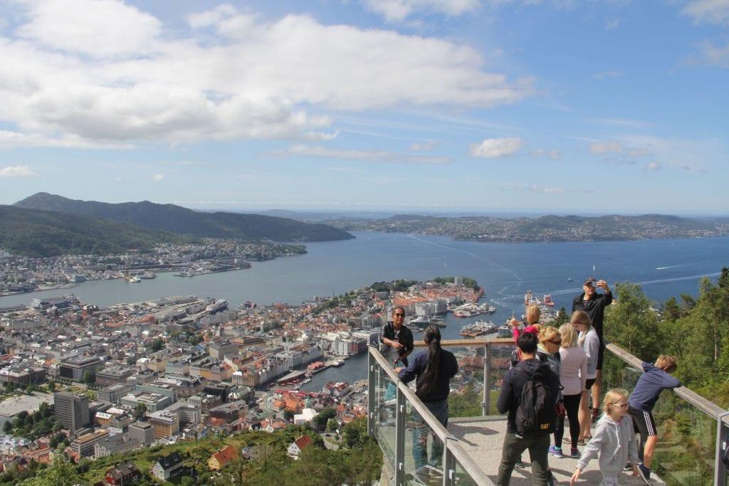 Bergen Floyen Aussichtsplattform 2