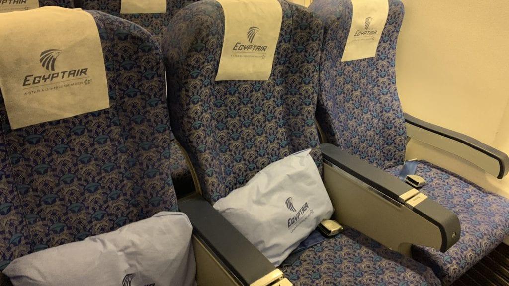Egypt Air B737 800 Economy Class Sitze 3