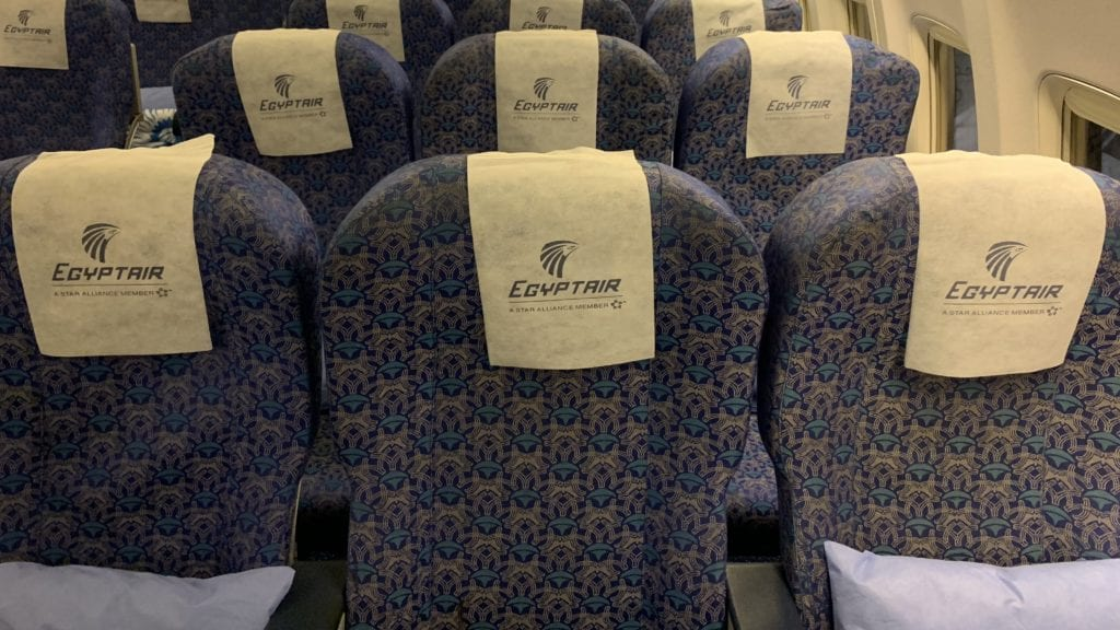 Egypt Air B737 800 Economy Class Sitze 7