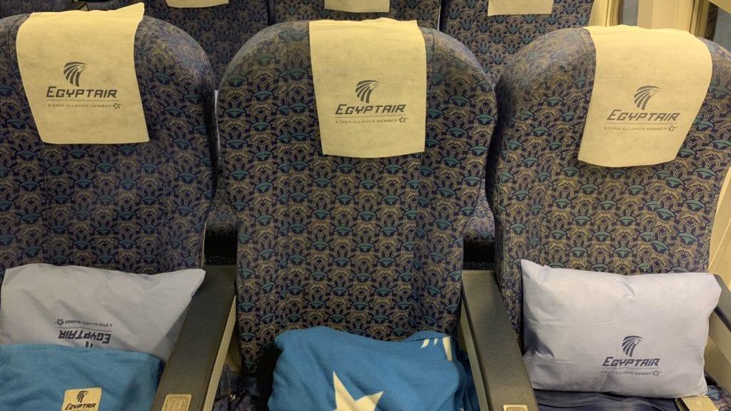 Egypt Air B737 800 Economy Class Sitze6