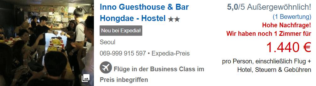 Flug & Hotel Beispiel