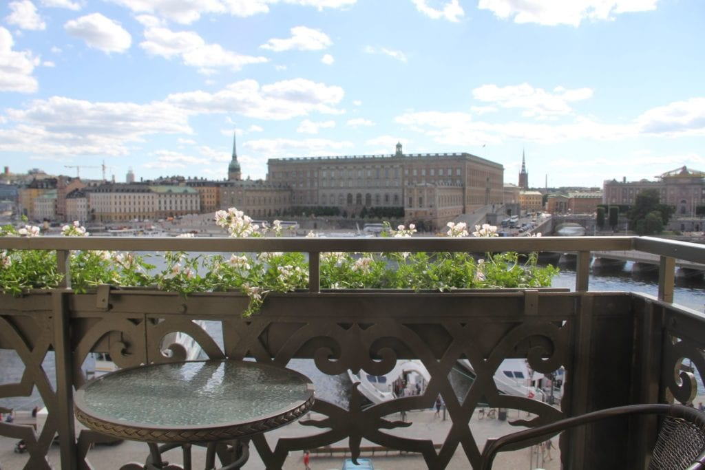 Grand Hotel Stockholm Deluxe Zimmer Balkon