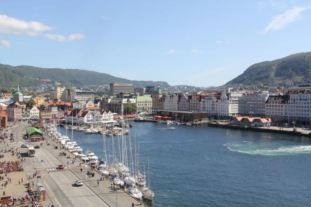 Hotel Havnekontoret Bergen Ausblick Turm
