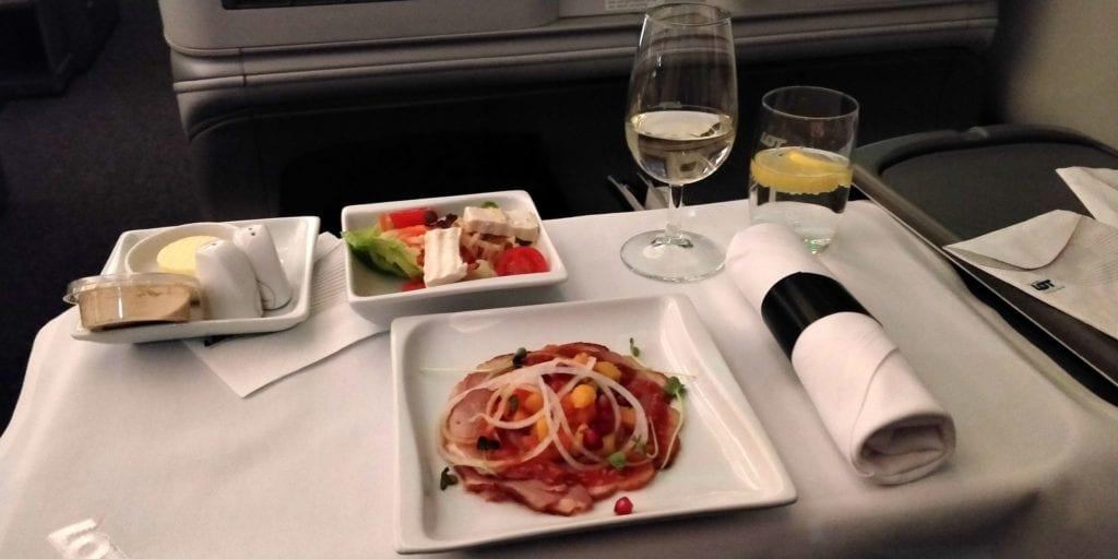 LOT Business Class Langstrecke Dinner