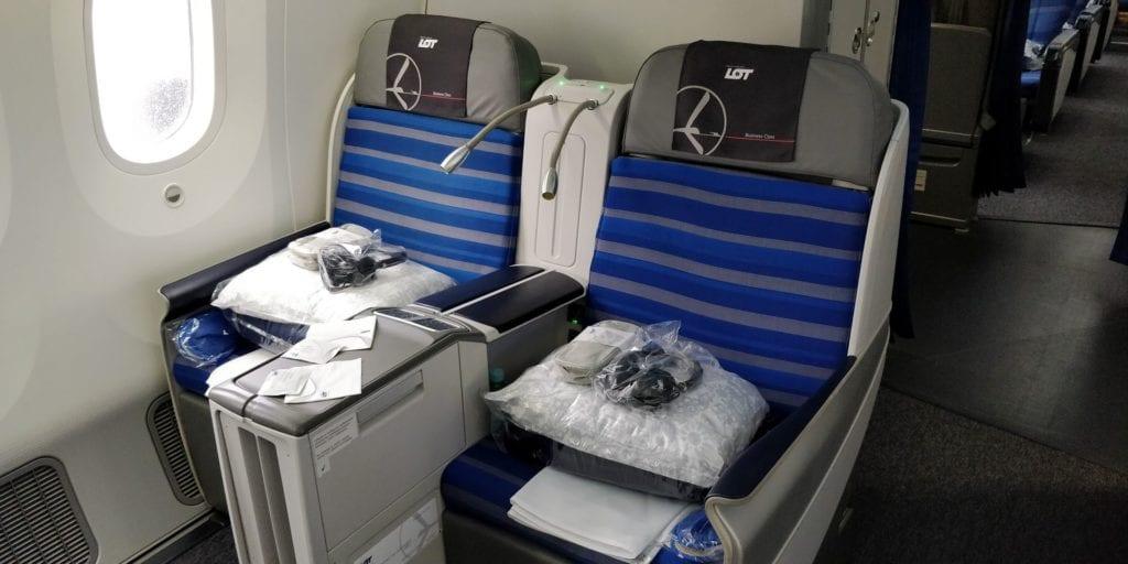 LOT Business Class Langstrecke Sitz