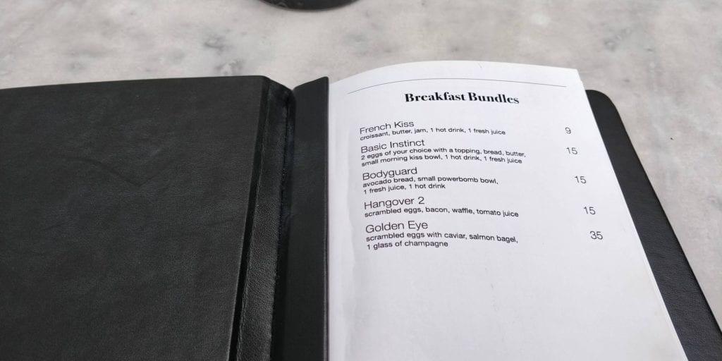 Provocateur Berlin Frühstück Menü 2