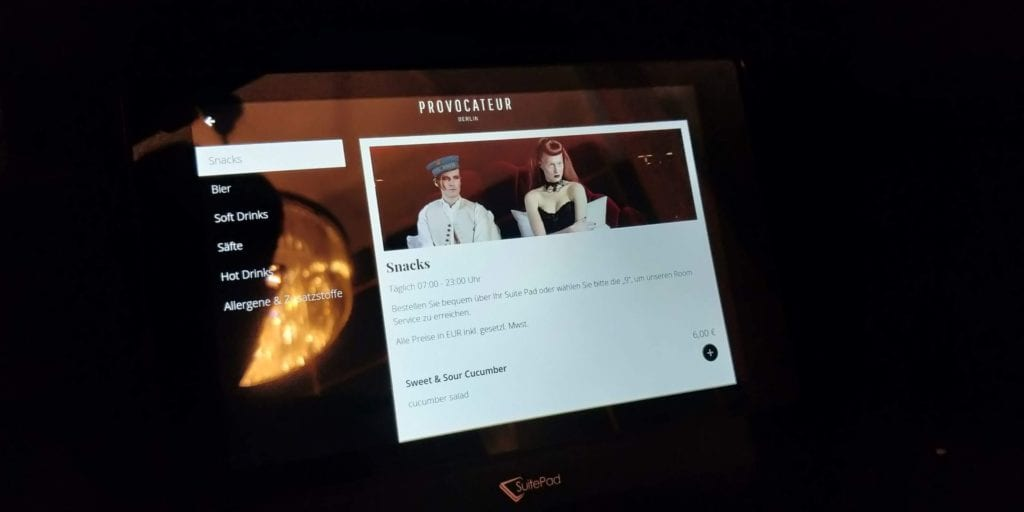 Provocateur Berlin Zimmer Tablet 2