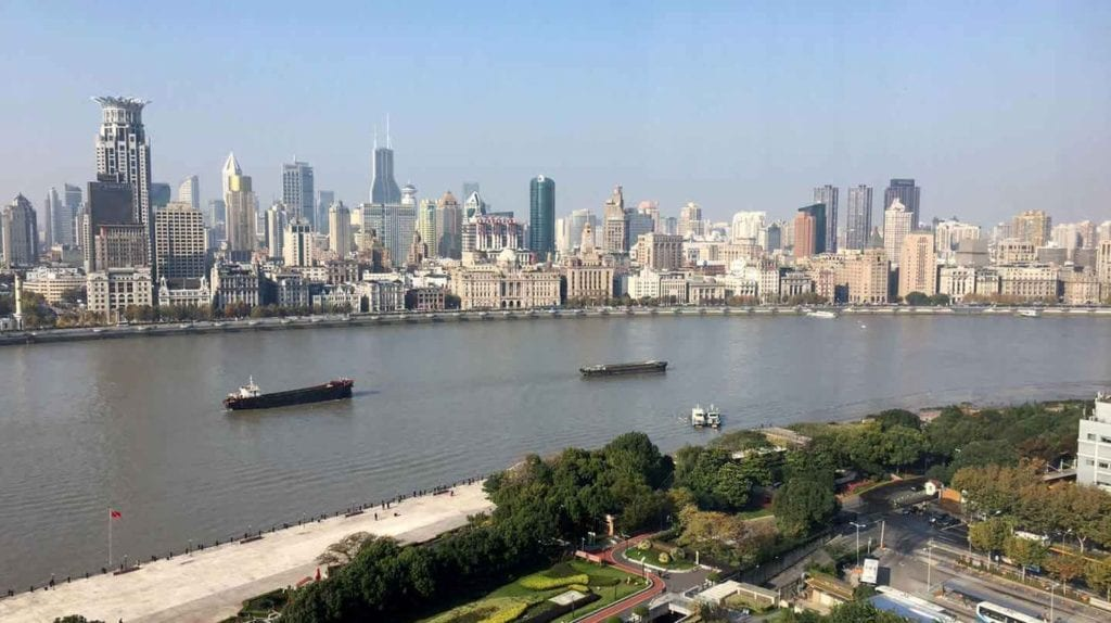 Pudong Shangri La Shanghai Ausblick