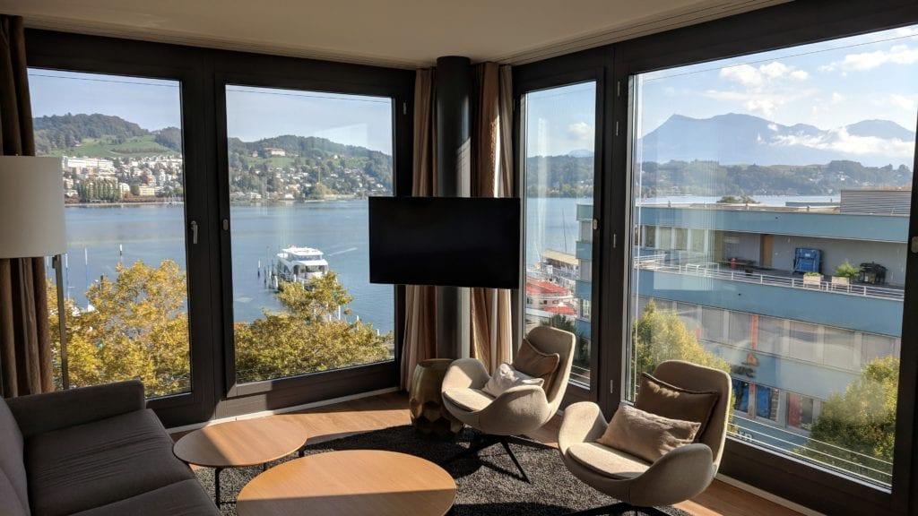 Radisson Blu Luzern Wohnzimmer