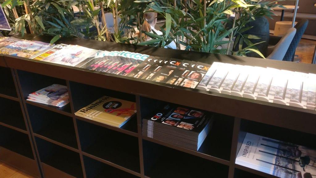 SAS Business Lounge Stockholm Zeitschriften