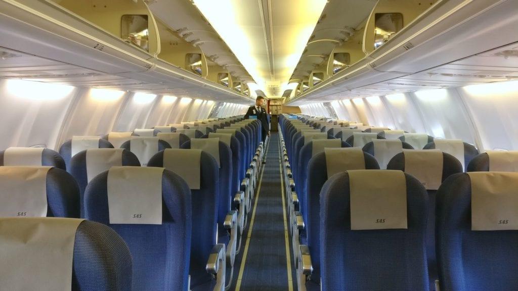 SAS Economy Class Kurzstrecke Kabine