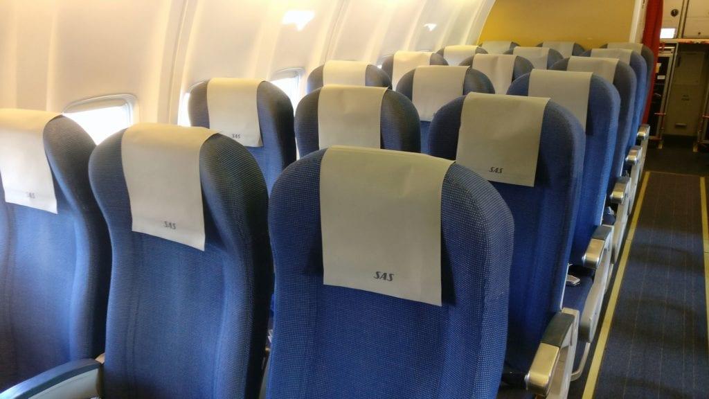 SAS Economy Class Kurzstrecke Sitz 2