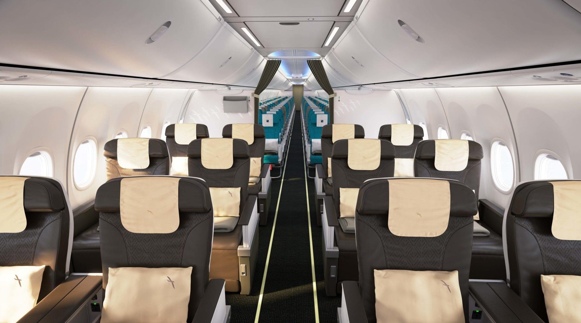 SilkAir Boeing 737 MAX Kabine