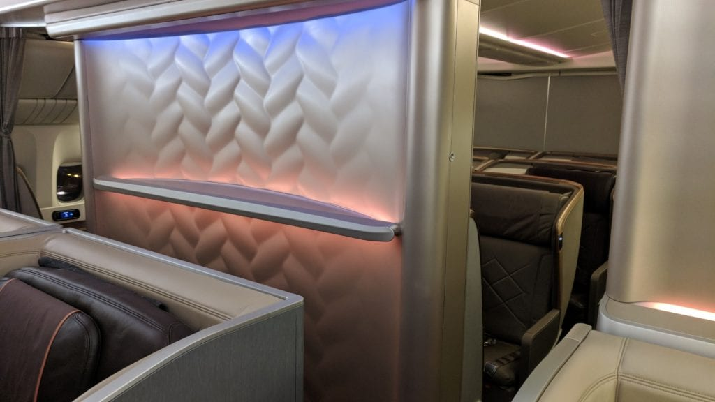 Singapore Airlines First Class Kabine (2)