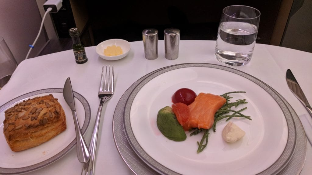 Singapore Airlines First Class Lachs