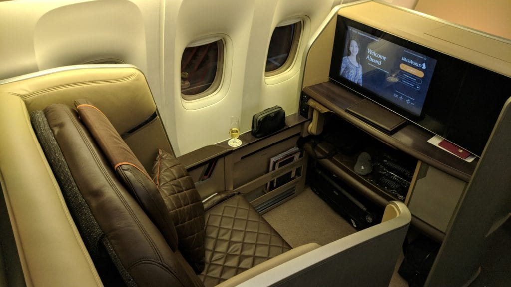 Singapore Airlines First Class Sitze 1A