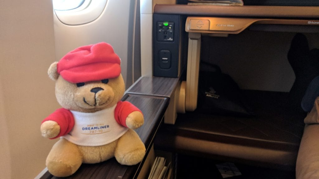 Singapore Airlines First Class Teddy