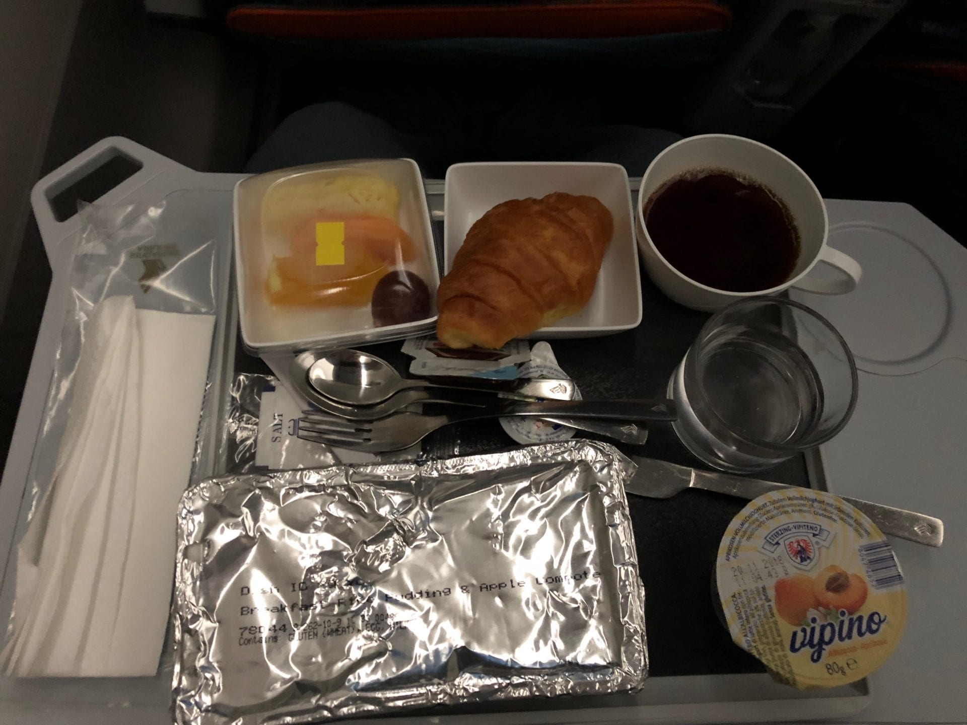 Singapore Airlines Premium Economy Class Breakfast Service