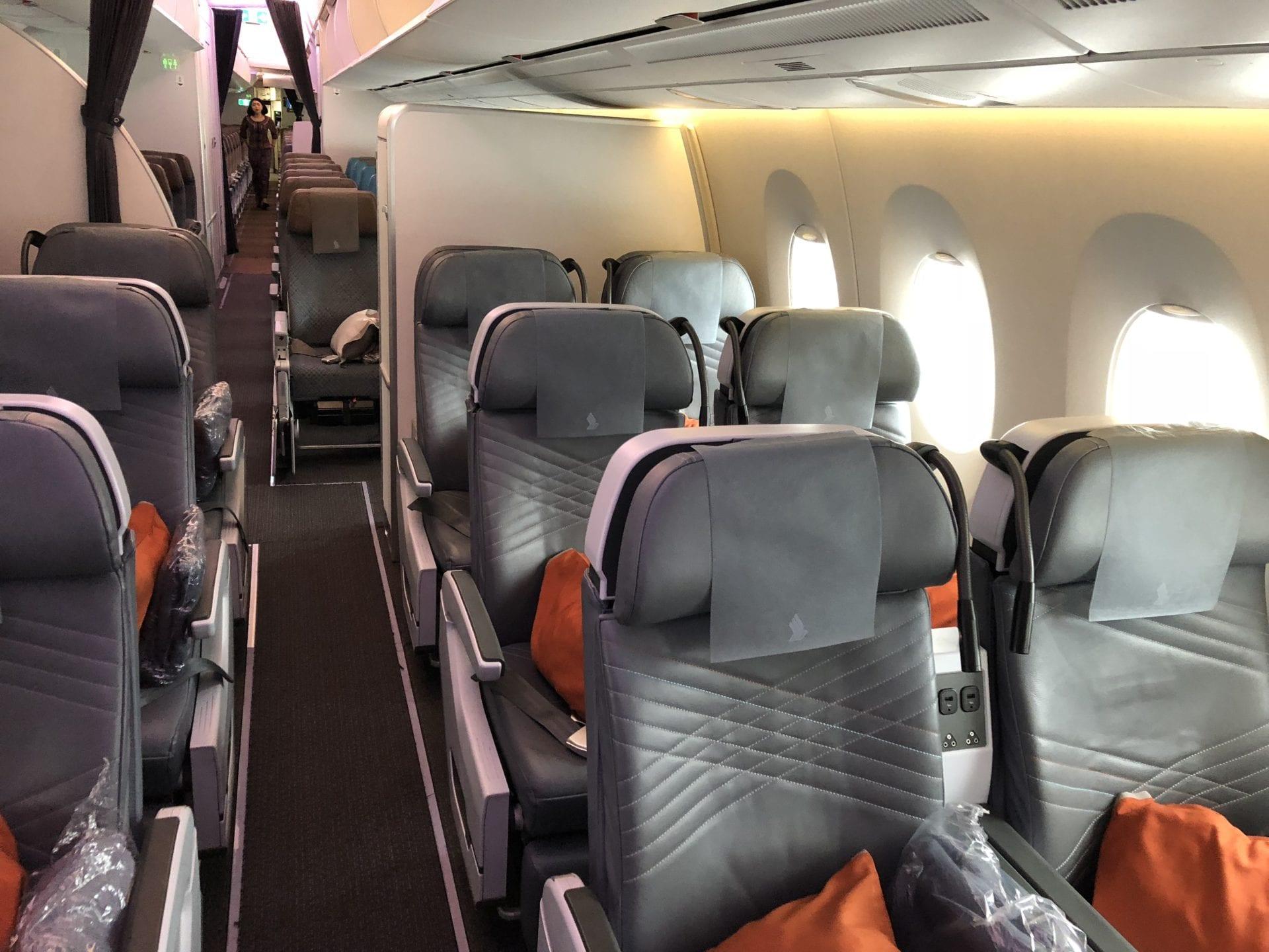 Singapore Airlines Premium Economy Class Kabine 2