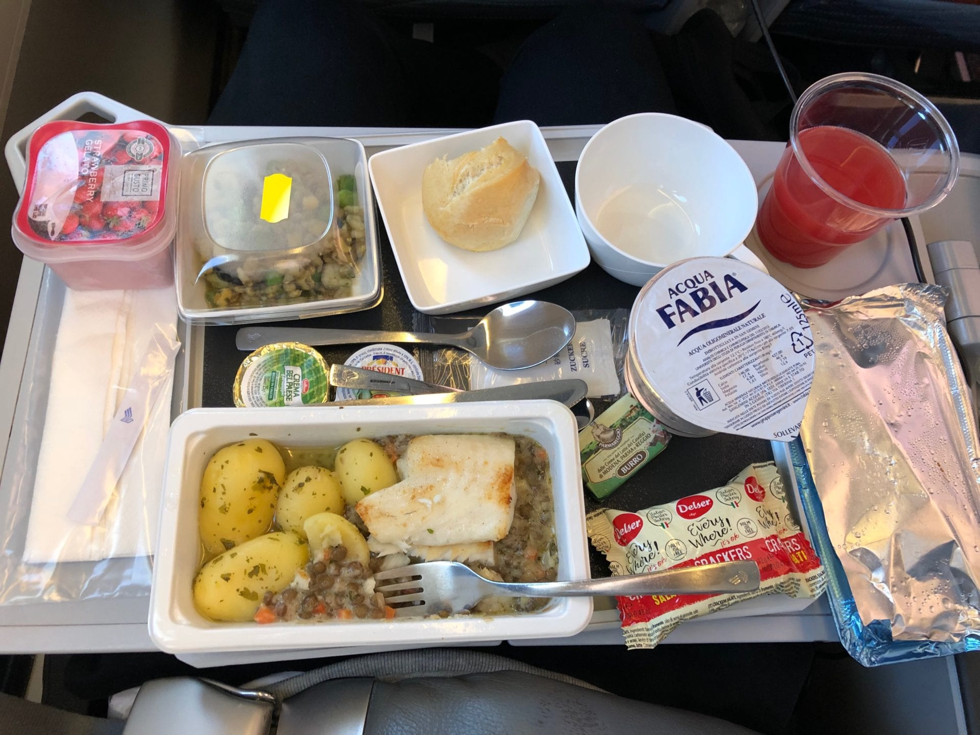 Singapore Airlines Premium Economy Class Lunch Servince