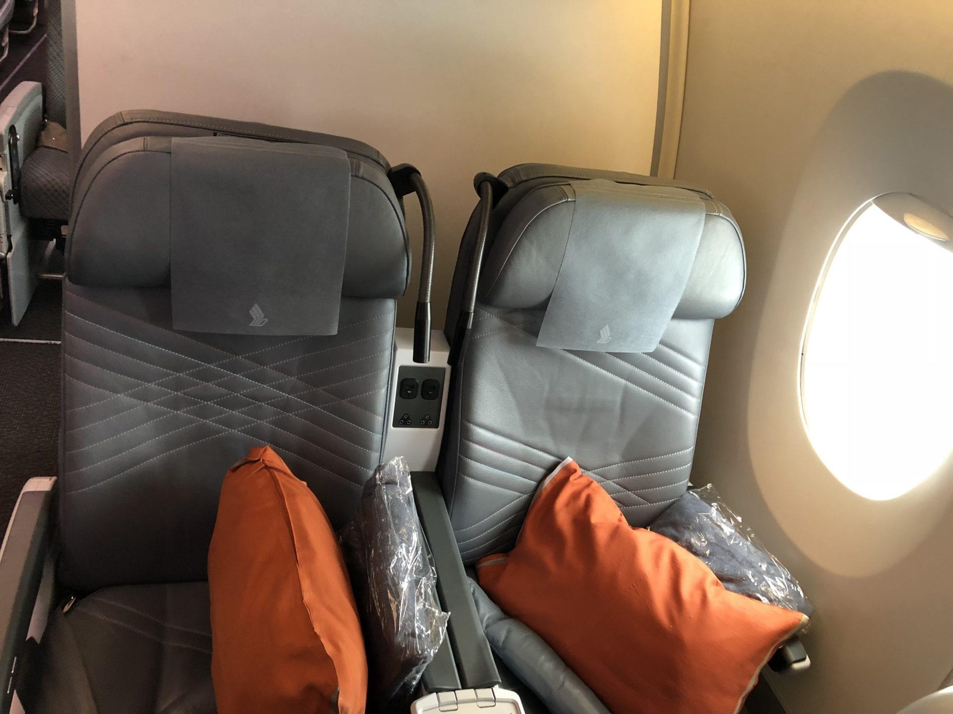 Singapore Airlines Premium Economy Class Reihe 33