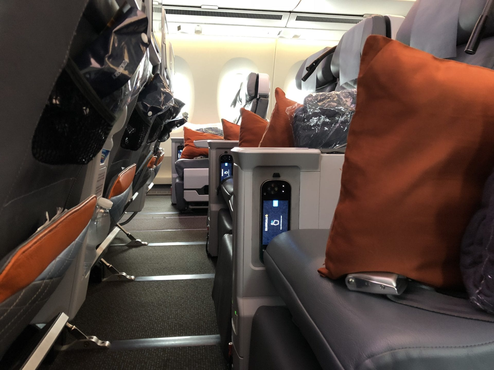 Singapore Airlines Premium Economy Class Sitzabstand