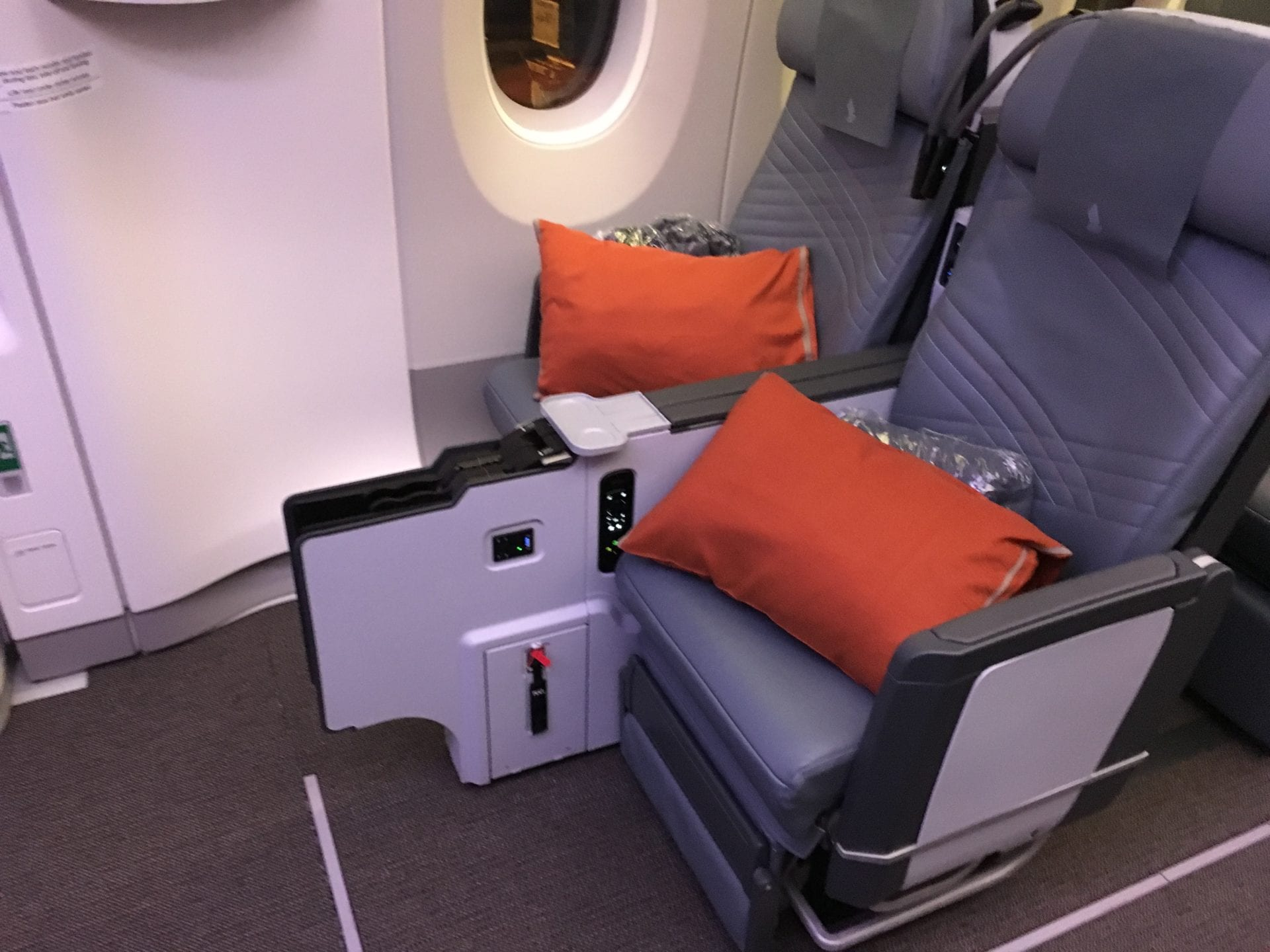 Singapore Airlines Premium Economy Class Ultralangstrecke Notausgang