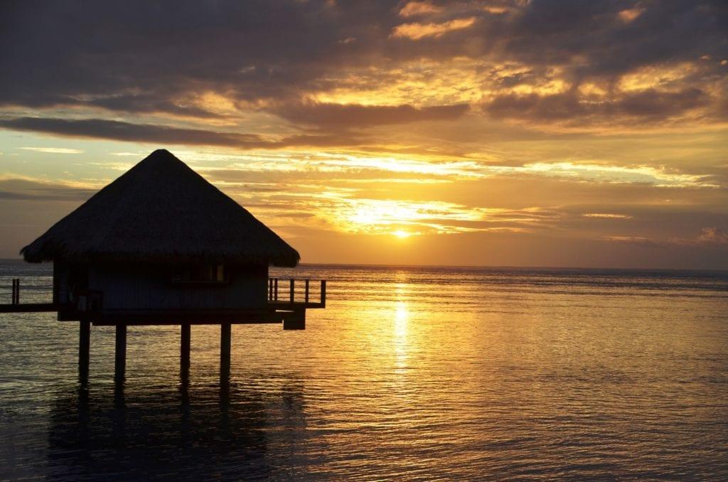 Tahiti La Ora Beach Resort By Sofitel Sonnenuntergang