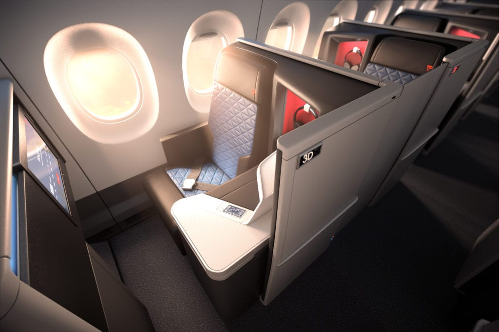 Delta Business Class Airbus A350