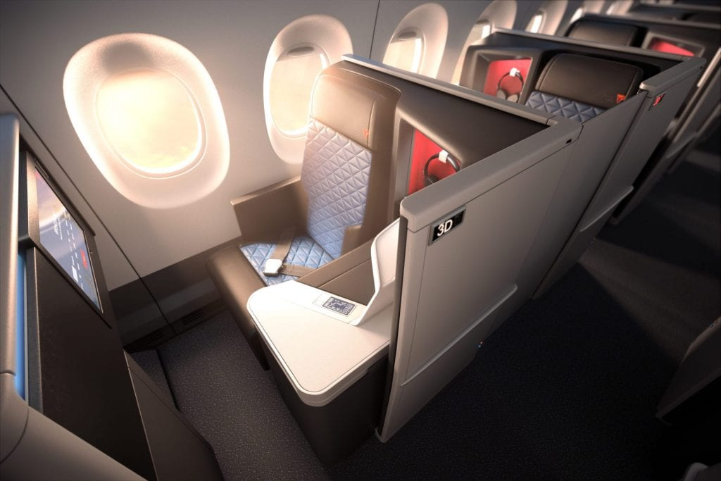 Delta Business Class Airbus A350 SkyMiles Award One