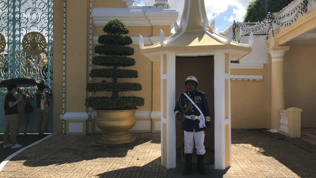Phnom Penh Kambodscha Guard Palast