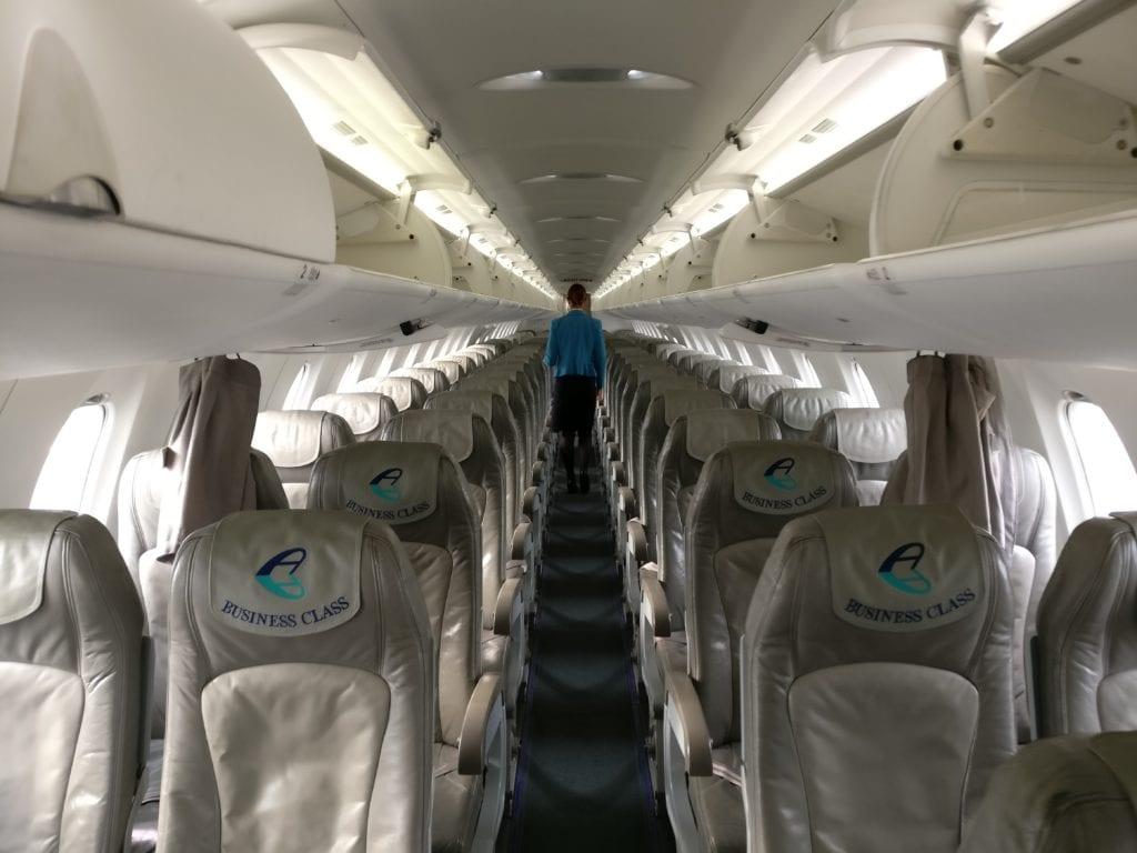 Adria Airways Economy Class Kabine