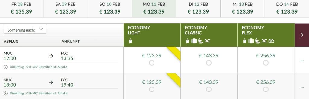 Alitalia Regulär