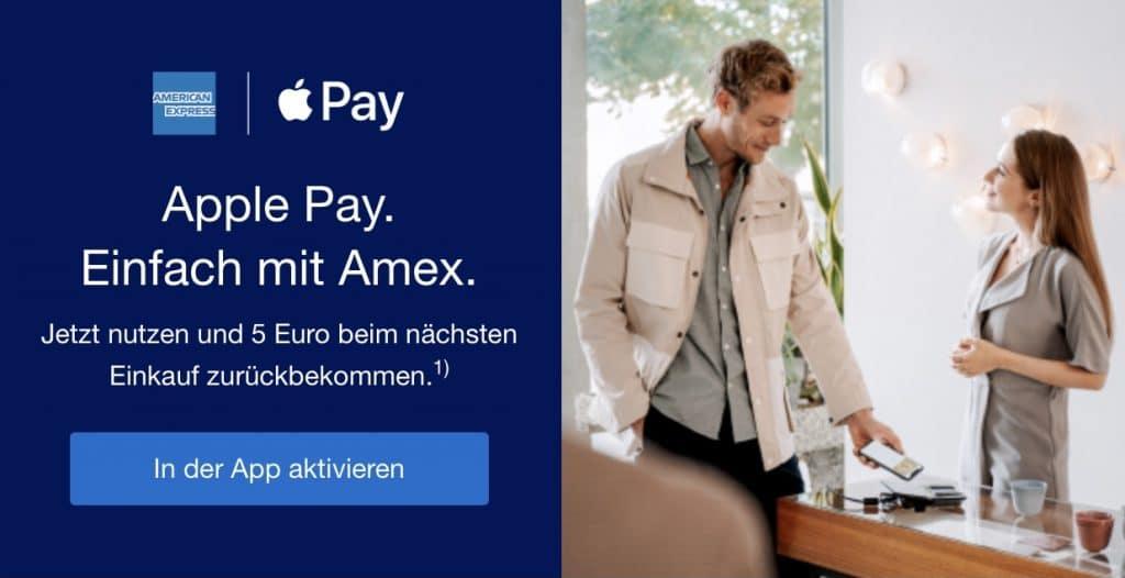 Amex Offer: 10 Euro Gutschrift mit Apple Pay reisetopia