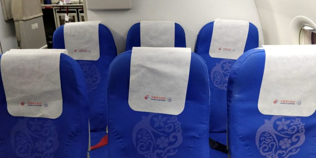 China Eastern Economy Class Kurzstrecke Sitz 4
