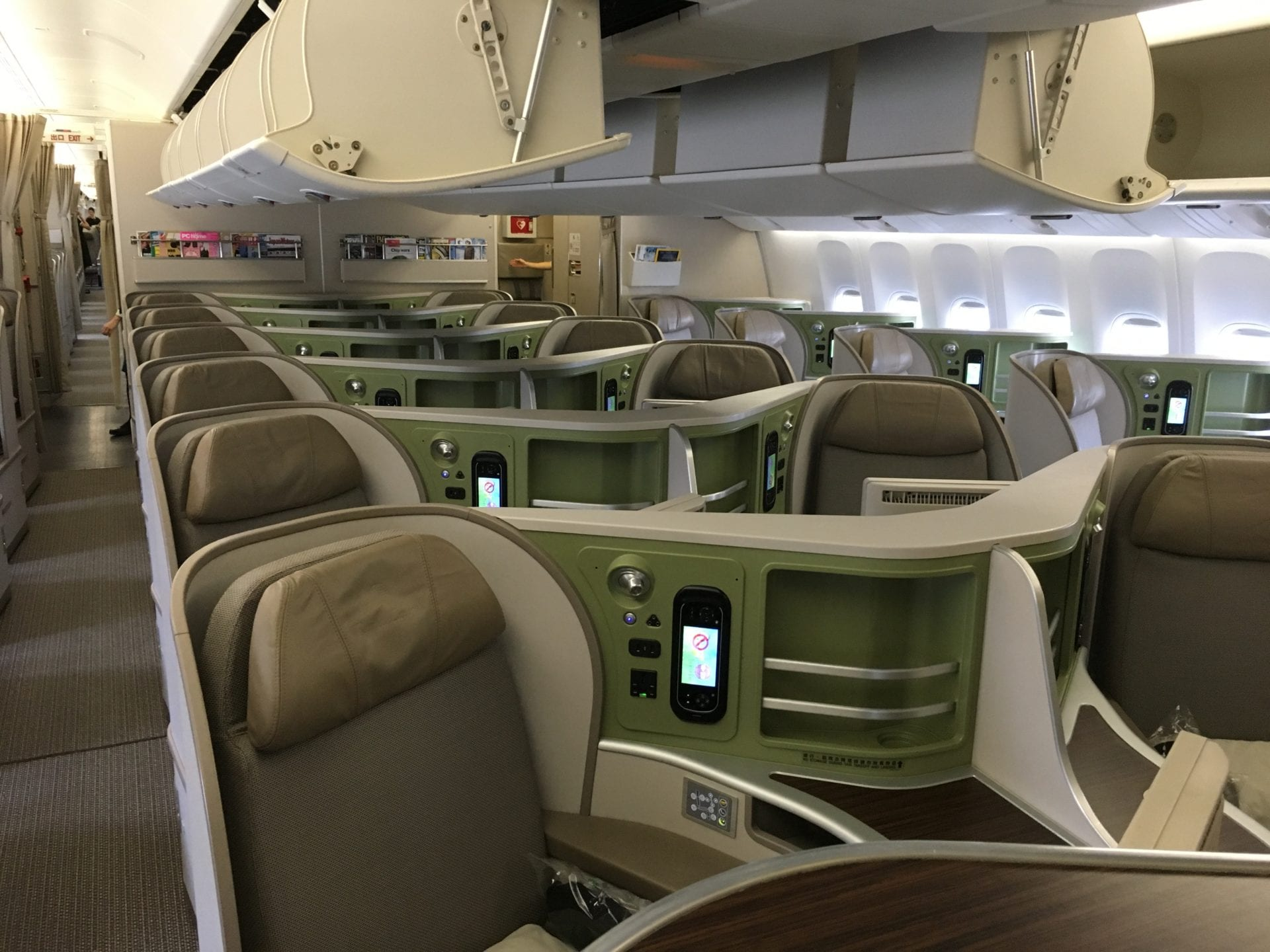 EVA Air Business Class Kabine 777
