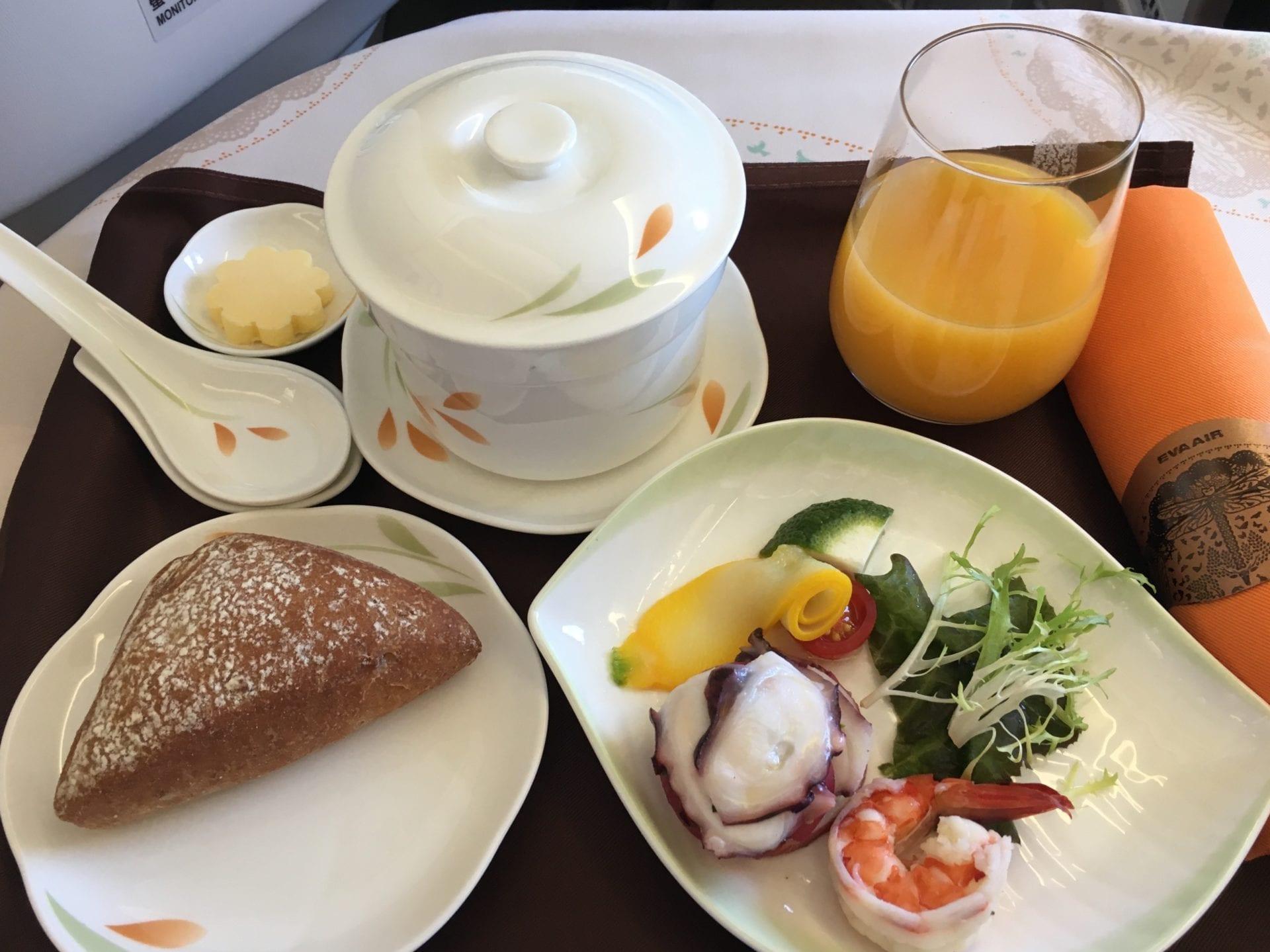 EVA Air Business Mittelstrecke Mealservice