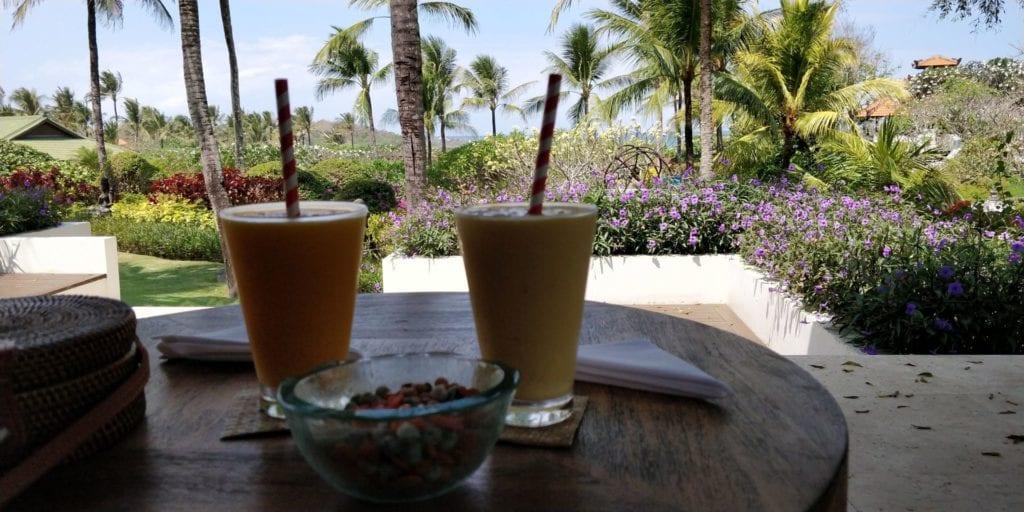 Grand Hyatt Bali Check In Getränk