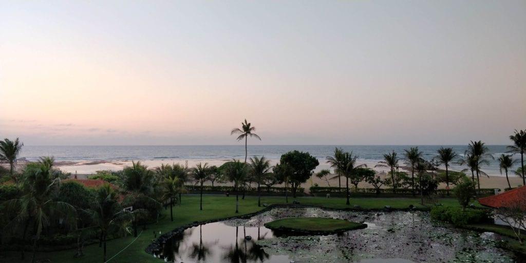 Grand Hyatt Bali Zimmer Ausblick Sonnenaufgang