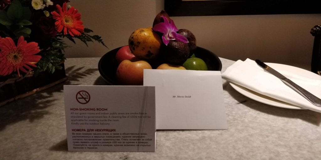 Grand Hyatt Bali Zimmer Willkommensgeschenk