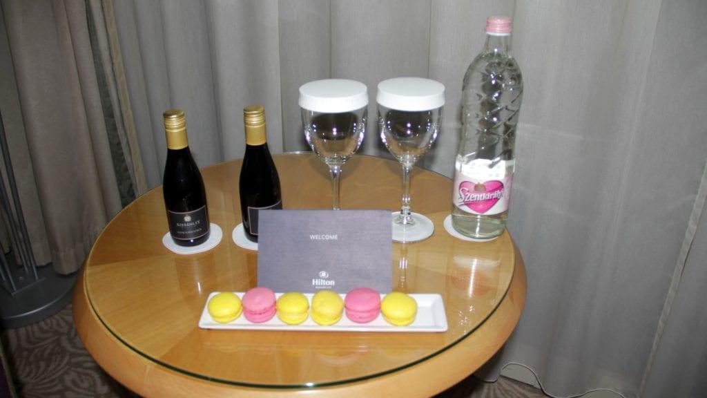 Hilton Budapest City Lounge Willkommensgeschenk