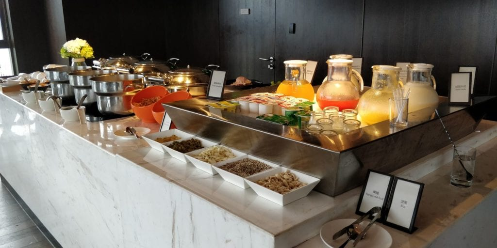 Hilton Ningbo Dongqian Lake Resort Lounge Frühstück 2