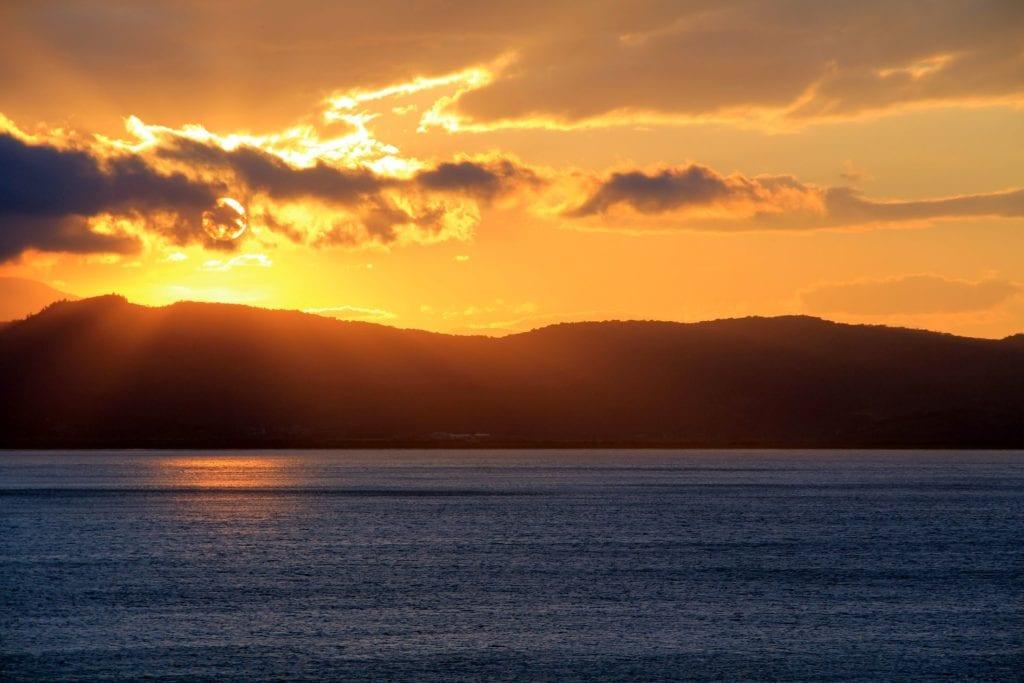 Ponta Dos Ganchos Resort Sonnenuntergang