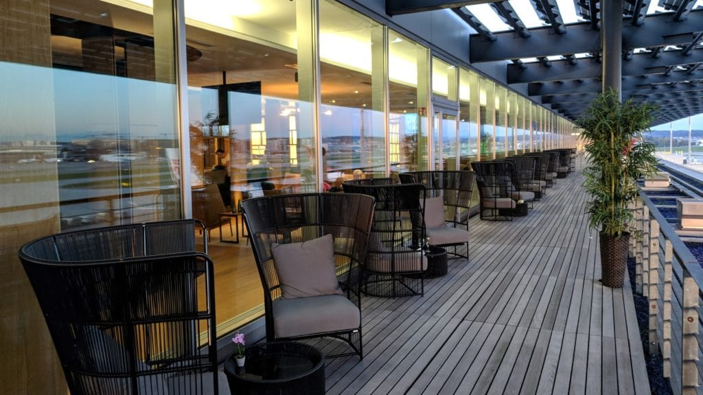 PrimeClass Lounge Zürich Terrasse