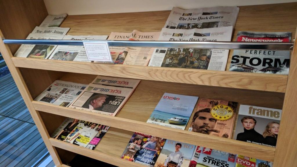PrimeClass Lounge Zürich Zeitschriften
