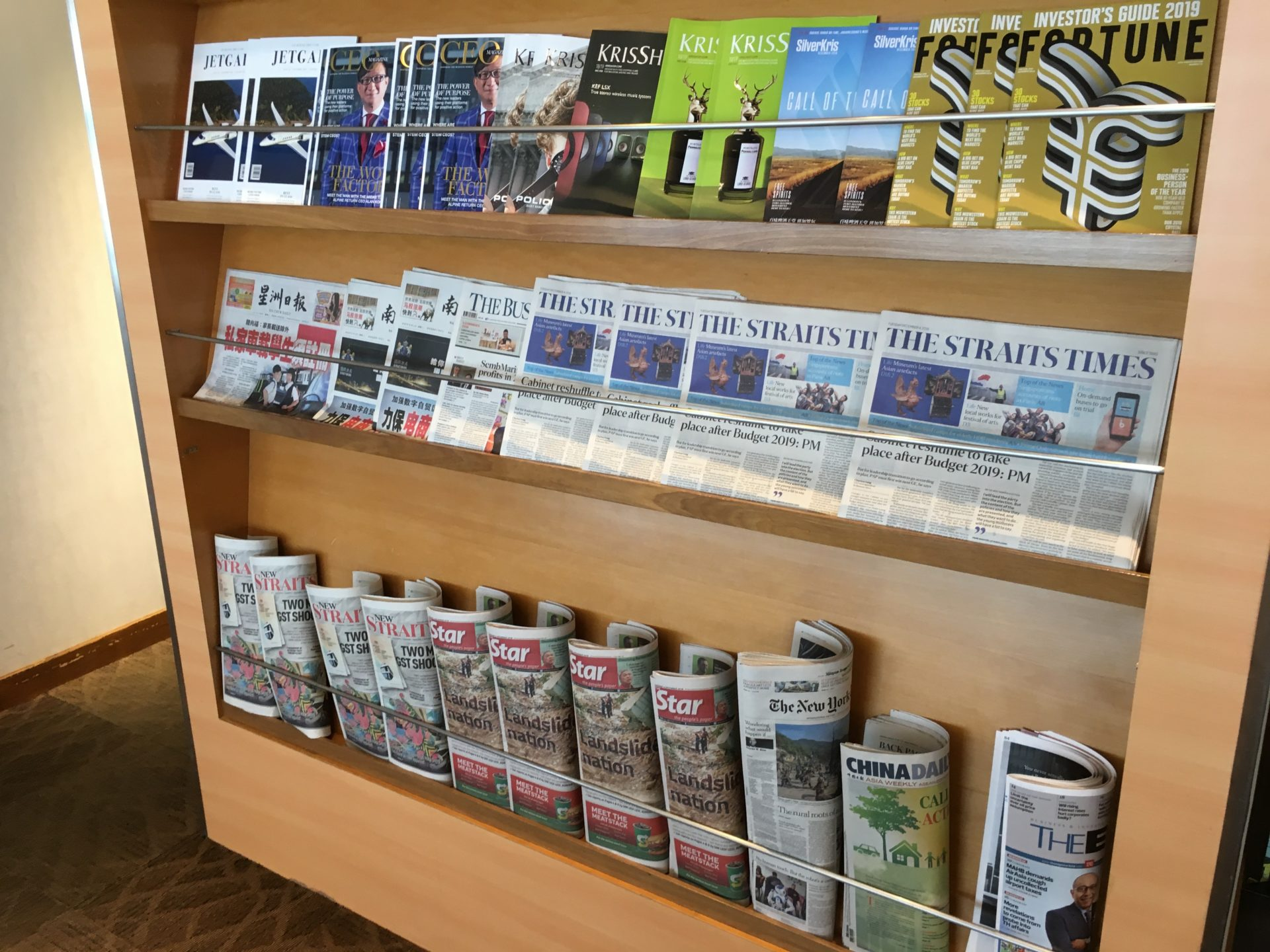 SilverKris Lounge Kuala Lumpur Zeitschriften